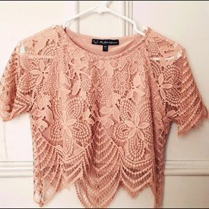 NEW! For love and Lemons Luna Crop Top